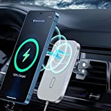 Magnetic Wireless Car Charger Compatible with iPhone 12/12 Pro/12 Mini/12 Pro Max, CHOETECH 360° Adjustable Auto-Alignment Air Vent Magnetic Phone Car Mount Holder Charger-White