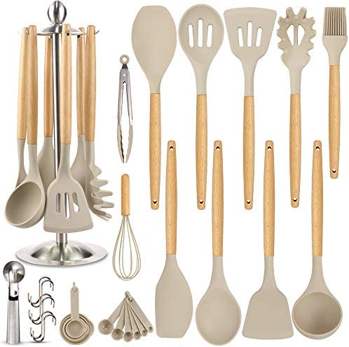 Silicone Kitchen Cooking Utensil Set EAGMAK 16PCS Kitchen Utensils Spatula Set with Stainless product image