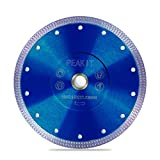 PEAKIT 7 Inch Tile Saw Blade Dry Wet Cutting 7' Porcelain Diamond Tile Blade 7in Ceramic Tile Cutter Blade Disc