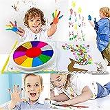 Kit de Peinture Drôle de Doigt - Jouets de Dessin de Doigt, Ensemble de Peinture pour Enfants D'apprentissage Précoce - Peinture de Doigt Lavable non Toxique (12 couleurs + livre de peinture)