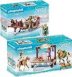 PLAYMOBIL® Spirit Juego de 2 Piezas 70396 70397 Concierto de Navidad + Paseo en Trineo