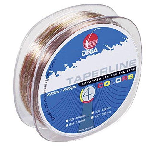 Dega TAPER LINE 4-color SCHLAGSCHNUR 4-farbig (Ø 0.37 - 0.60 mm)