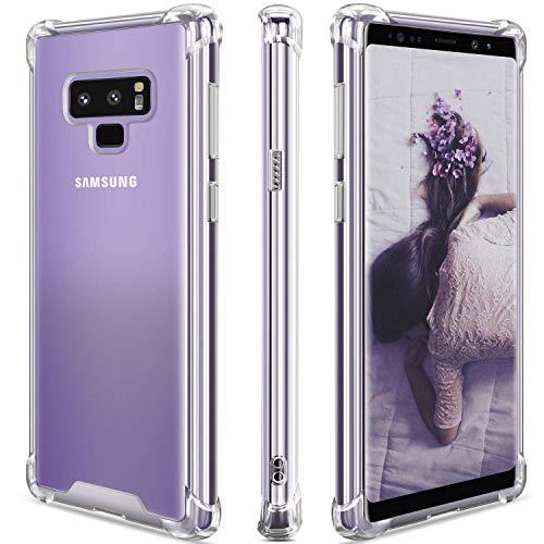 JProtect Hülle für Samsung Galaxy Note 9 Shockproof   Transparentes Stoßsicheres TPU   Bumper case Cover Schutzhülle   Perfekte Passform   Unterstützt Kabelloses Laden  