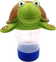 Flotador de cloro de piscina, forma animal de la tortuga, dispensador de cloro flotante, dispositivo de dosificación automático de la caja de la droga del cloro de la tableta flotante