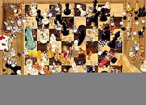 wgkgh Jigsaw Puzzles Adultos Niños Ajedrez Otelo 1000 Piezas Puzzles Collection Puzzles Cada Pieza Es Unica Tecnología encajan Perfectamente Rompecabezas 50CMX75CM
