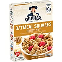 Quaker Oats Oatmeal Squares Honey Nut Breakfast Cereal