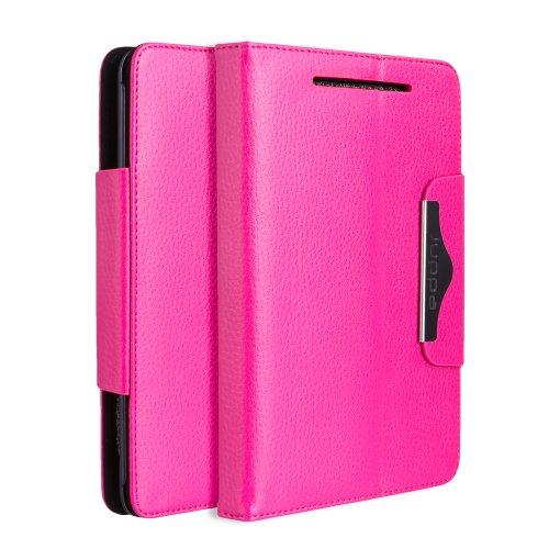 Juppa® Executive Ledertasche umfasst Ständer Feature, Displayschutzfolie und Eingabestift Kugelschreiber für Google Nexus 7 Tablet - Rosa