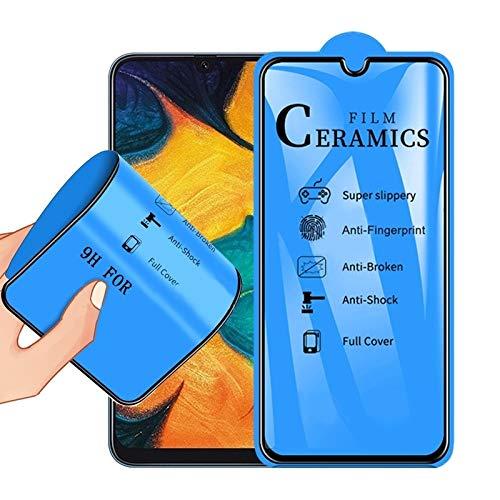 Zhangl mobiele telefoon gehard glas film 2.5D volledige lijm volledige cover keramische film voor Galaxy A20 / A30 / A50 / M30 gehard glas film