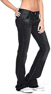 Toamen Jeans Acampanados para Mujer Pantalones de Mezclilla Delgados de Tiro bajo Pantalones Acampanados Casuales Pantalon...