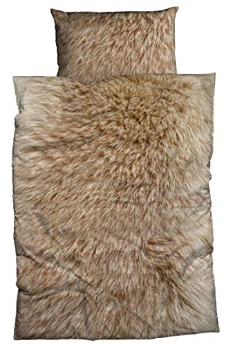 Casatex Fein-Biber Bettwäsche Animal FUR 135 cm x 200 cm braun