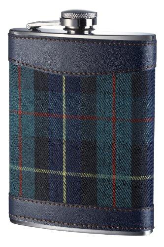 Premier Housewares Fiaschetta in acciaio INOX con fantasia scozzese, 236 ml, 14 x 10 x 3 cm, colore: Verde