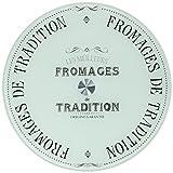 R2S 441DEGO Délices der Gourmets Servierplatte, Glas, drehbar, 35x 35x 4cm, Weiß