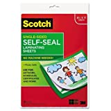 3M/Commercial Tape DIV LS854SS10 Self-Sealing Laminating Sheets, 6.0 mil, 8 1/2 x 11, 10/Pack