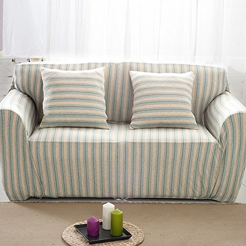 HYSENM 1/2/3/4 Sitzer Sofabezug Sesselbezug Bambus-Baumwolle unempfindlich Rutschfest Anti-Pilling,...