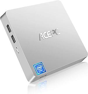 Mini PC, T11 Windows 10 Pro (64 bits) Intel x5-Z8350 Mini computadora sin ventilador con puerto HDMI/VGA, 4K HD, 4GB/64GB ...