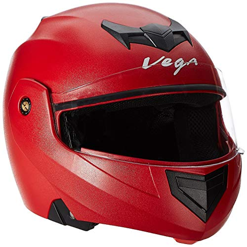 Vega Crux CRX-R-L Flip-up Helmet (Red, L)
