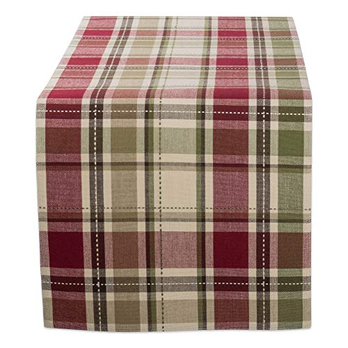 DII CBBB01335 Cotton Table Runner for Wedding, Birthday, Dinner Parties, Christmas, Holidays, or Everyday Use, 13x72, Homespun Plaid, 1 Unit