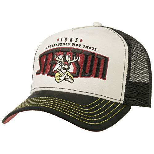Stetson Hot Shots Trucker Cap Basecap Truckercap Baseballcap Meshcap Herren - Snapback, mit Schirm, Schirm Frühling-Sommer Herbst-Winter - One Size schwarz-grau