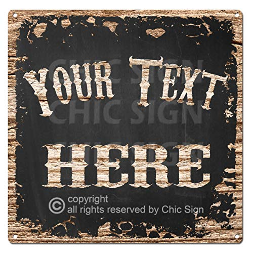 Name's Your Text Here Custom Personalized Tin Chic Sign Rustic Vintage Style Retro Kitchen Bar Pub Coffee Shop 12