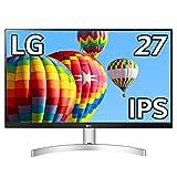 LG フレームレス モニター ディスプレイ 27ML600S-W 27インチ/フルHD/IPS 非光沢/1ms(MBR)/スピーカー/HDMI×2,D-sub/FreeSync/フリッカーセーフ、ブルーライト低減機能