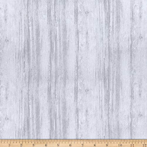 Benartex 0679507 Contempo Washed Wood Wide Back 108'' Fabric Stoff, baumwolle, nickel, By The Yard