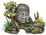 Nobby Decoración Acuario, diseño de columnas Antiguas con Plantas, 25x 12.5x 18 cm