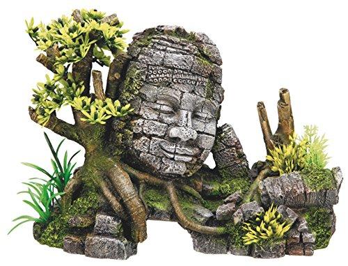 """Nobby Aqua Ornaments """"ANGKOR WAT"""" mit Pflanzen 25 x 12,5 x 18 cm"""