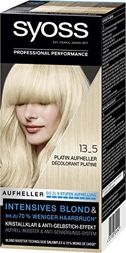 SYOSS Blond Stufe 3 13_5 Platin Aufheller, bis zu 9 Stufen Aufhellung, 3er Pack (3 x 135 ml)