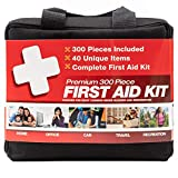 M2 BASICS 300 Piece (40 Unique Items) First Aid Kit | Premium Emergency Kits | Home, Camping, Car, Office, Travel, Vehicle, Survival