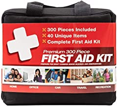 M2 BASICS 300 Piece (40 Unique Items) First Aid Kit   Premium Emergency Kits   Home, Camping, Car, Office, Travel, Vehicle, Survival