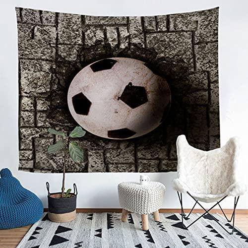 Tapiz para colgar en la pared, diseño de pelota de fútbol americano en 3D, para niños, niñas, deportes, decoración de pared, estilo vintage, para dormitorio, sala de estar, grande, 122 x 182 cm