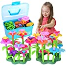 Flower Garden Building Toddler Toys DIY Floral Bouquet Arrangement Gardening Pretend Play Gifts Stacking Game Playset for Kids Educational Stem Toys Boys Girls Age 3, 4, 5, 6, 7 Year Old (135 PCS)