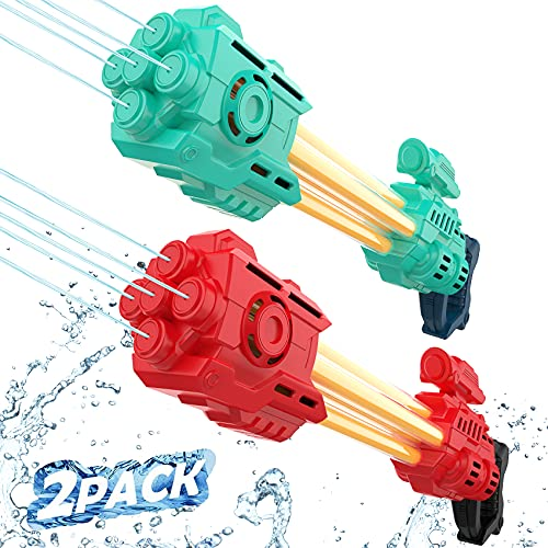 Towevine Water Gun for Kids and Boys, Squirt Gun 1200cc capcity Big Long Range Shooting, Summer Water Blaster Toy for Swimming Pool Beach Party Favor Fighting Toy Gifts(RED)