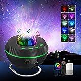 Lámpara Proyector Estrellas, Tasmor Smart WiFi Proyector Galaxia con Soporte, 10 Modos de Color Control Remoto con Temporizador Altavoz de Música Bluetooth Regalo de Fiesta, Decoración de Habitación