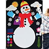 Felt Flannel Storyboard Snowman Giant 3.5 FT Build Your Own Set Wall Hanging Interactive Play Kit Premium Quality Hand Stitched Christmas Holiday Winter Ornament Decoration Story DIY Quiet Book
