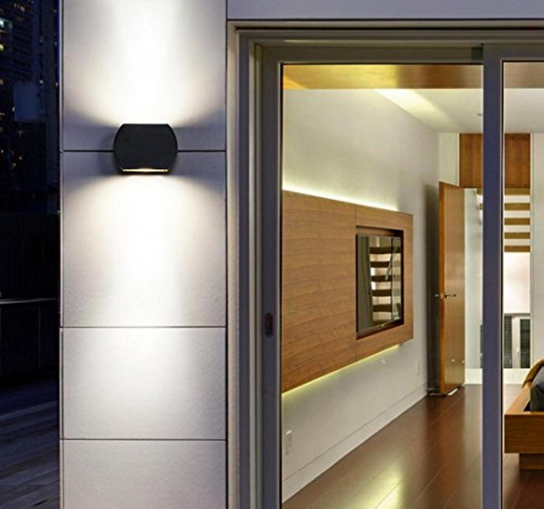 Led-wandleuchte im freien wasserdichte moderne Einfache doppelkopf gang balkon Garten lichter