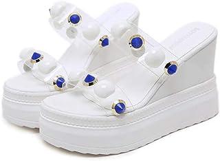 Womens Open Toe Wedge Sandals,Ladies Fish Mouth Non-Slip Platform High Heels,Summer Wedge Heels for Patry Wedding