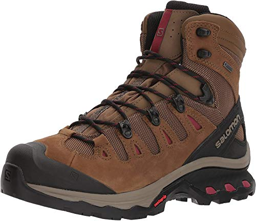 Salomon Women's Quest 4D 3 GTX Backpacking Boots, Teak/Teak/Tibetan Red, 8.5
