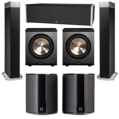 Best Price Definitive Technology 5.2 System with 2 BP9080X Tower Speakers, 1 CS9040 Center Channel S...
