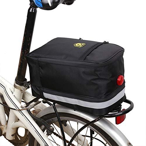 Alforjas Bicicleta Trasera Impermeable Bolsa Trasera Bicicleta Bolsas de Bicicleta para la Parte Trasera Ciclismo Bolsa Accesorios de Bicicleta Black,1