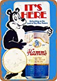 Hamm's Beer Bear Metall Blechschild Retro Metall gemalt