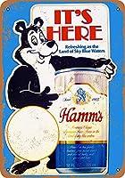 Hamm's Beer Bear 金属板ブリキ看板警告サイン注意サイン表示パネル情報サイン金属安全サイン