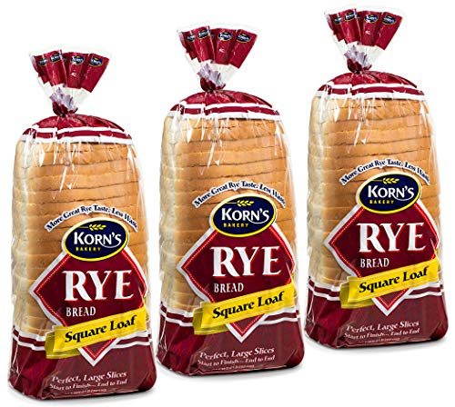 Rye Bread - 3 Pack - 32 oz per Loaf | Delicious Sandwich Bread | Fresh Bread | Soft & Light Rye Bread | Dairy & Nut Free | 2-3 Day Shipping | Stern's Bakery (3 Pack)