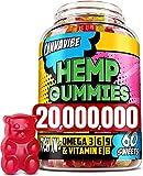 Cannavibe Hemp Gummies - Calm & Sleep Gummies with Hmp xtract - Rich in Vitamin B & Omega 3-6-9 - 60 Pcs