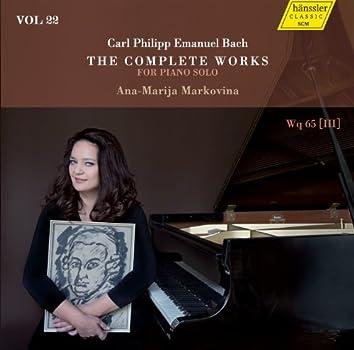 C.P.E. Bach: The Complete Works for Piano Solo, Vol. 22