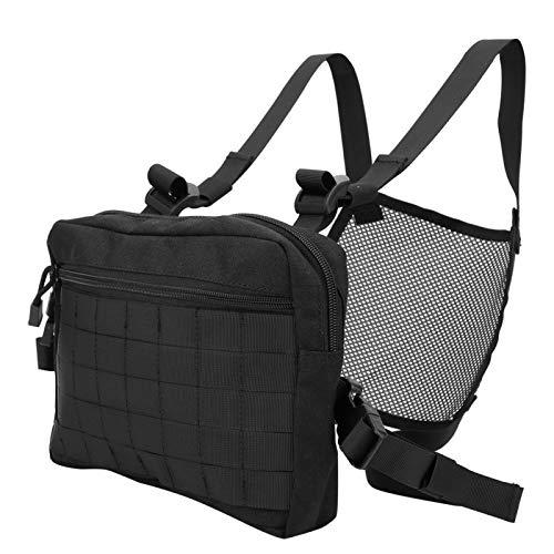 Tactics Hanging Pack Material de poliéster Bolsa de pecho ajustable resistente al desgaste, uso en exteriores