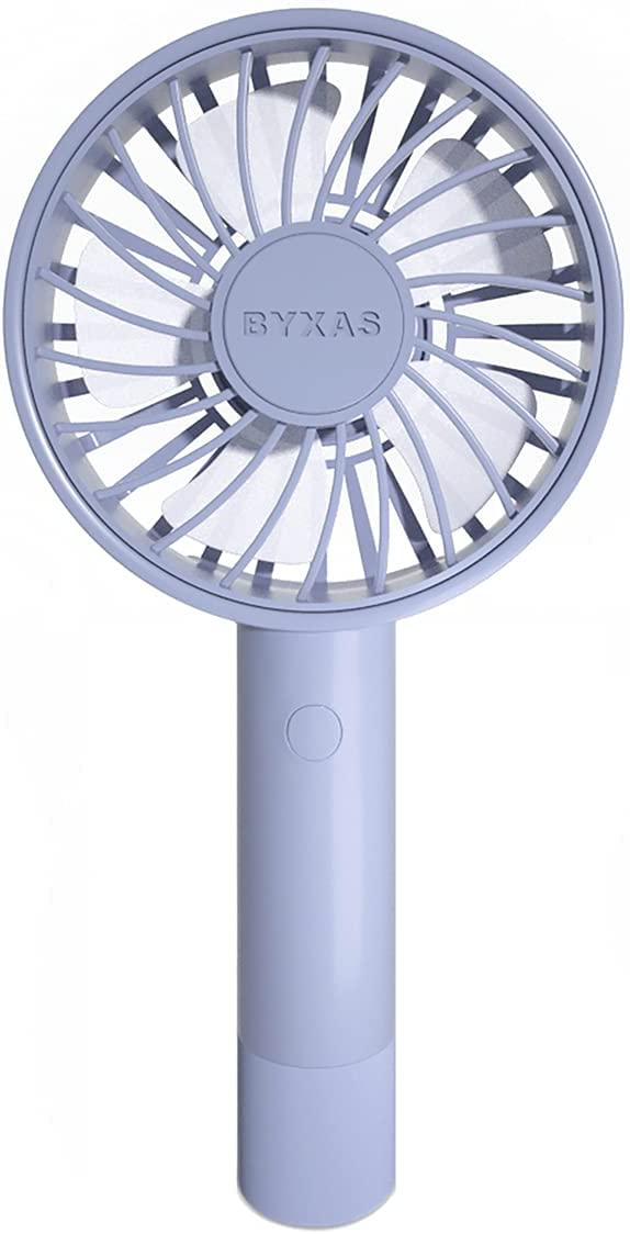 BYXAS Mini Handheld Portable Fan, Speed Adjustable Small Personal USB Cooling Fan, Rechargeable Battery Fan for Indoor Outdoor Office Travelling and Eyelash Style (Purple)