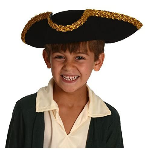 Kangaroo Kids Revolutionary War Deluxe Colonial Tricorn Hat ea95961a875