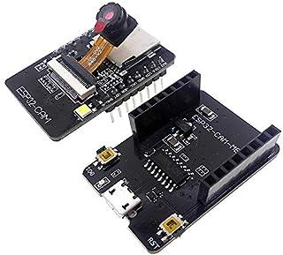 Grevis Tarjeta de desarrollo WiFi ESP32-CAM-MB OV2640, módulo de cámara, interfaz USB, CH340G, USB a conector serie