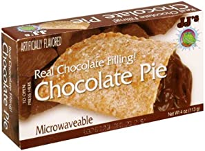 JJ's Bakery Lightly Glazed Snack Pies 4oz (Pack of 6) (Chocolate)